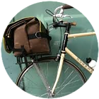 Front rack with bag